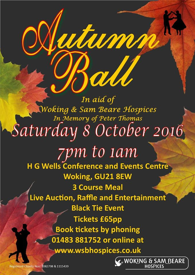 Autumn Ball at the HG Wells Conference & Events Centre Woking Surrey