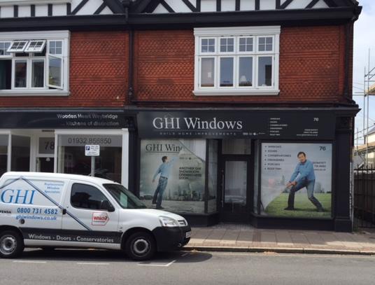 GHI Windows Showroom in Town Centre of Weybridge Elmbridge Surrey