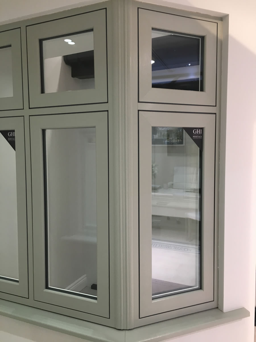 New H70 Sash Window from GHI's Heritage Collection available at their new Weybridge Surrey Double Glazing Showroom