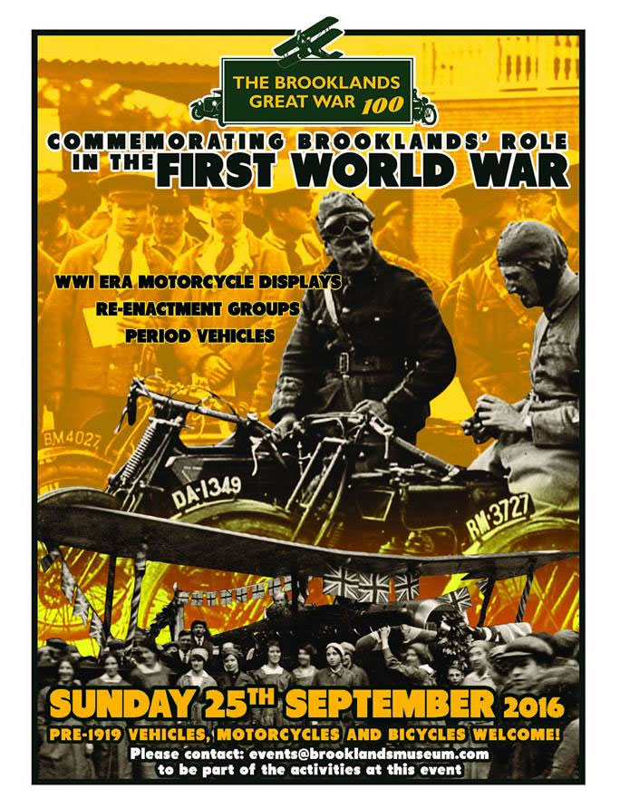 Join us as we mark the centenary of World War One, with a special event encompassing the many aspects of Brooklands' involvement in the Great War of 1914 – 1918