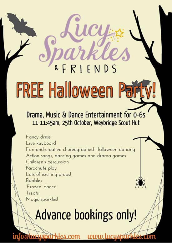Halloween Party for 0-6's in Weybridge! Drama, Music & Dance Entertainment