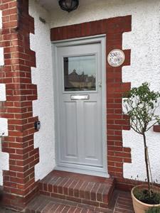Entrance Door Supplied & Installed by GHI Windows of Weybridge Surrey