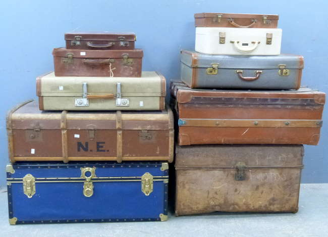 Antiques Auction in Surrey - Trunks & Suitcases