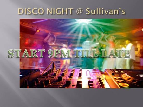Sullivans Wine Bar Disco Night