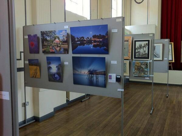 Rachael Talibart Photography hanging at Weybridge Art Society Exhibition in Weybridge Hall