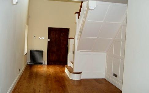 Hall refurbishment by Weybridge Builders Wye Construction Services Ltd