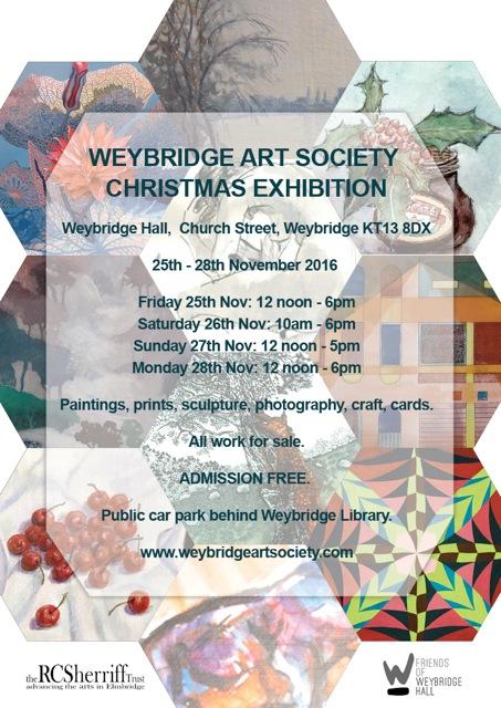 Weybridge Art Society Christmas Exhibition in Weybridge Hall