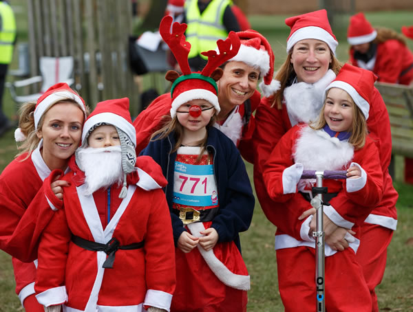 Christmas Events for Princess Alice Hospice include the Santa Fun Runs which take place at Bushy Park & Richmond Park