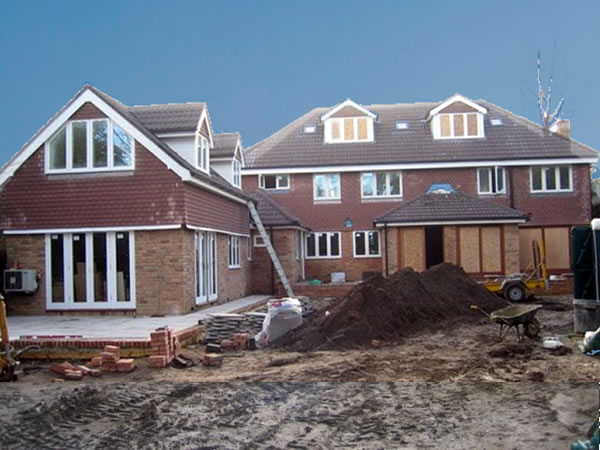 House extension in Weybridge Surrey by Builders Wye Construction Services Ltd