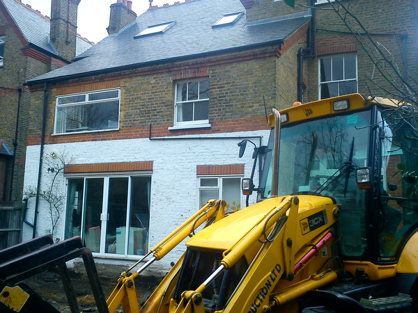 Wimbledon house before extension by Weybridge Builders Wye Construction Services Ltd