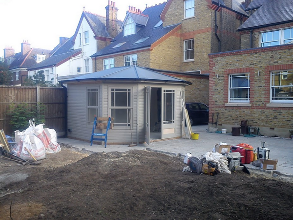 Carpentry by Weybridge Builders Wye Construction Services for Summerhouse at Wimbledon Building Project
