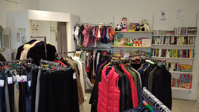 Charity Shop in Fairlands Guildford for Woking & Sam Beare Weybridge Hospices