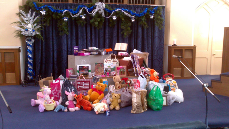 Christmas Gift Service at United Reformed Church Queens Road Weybridge Surrey