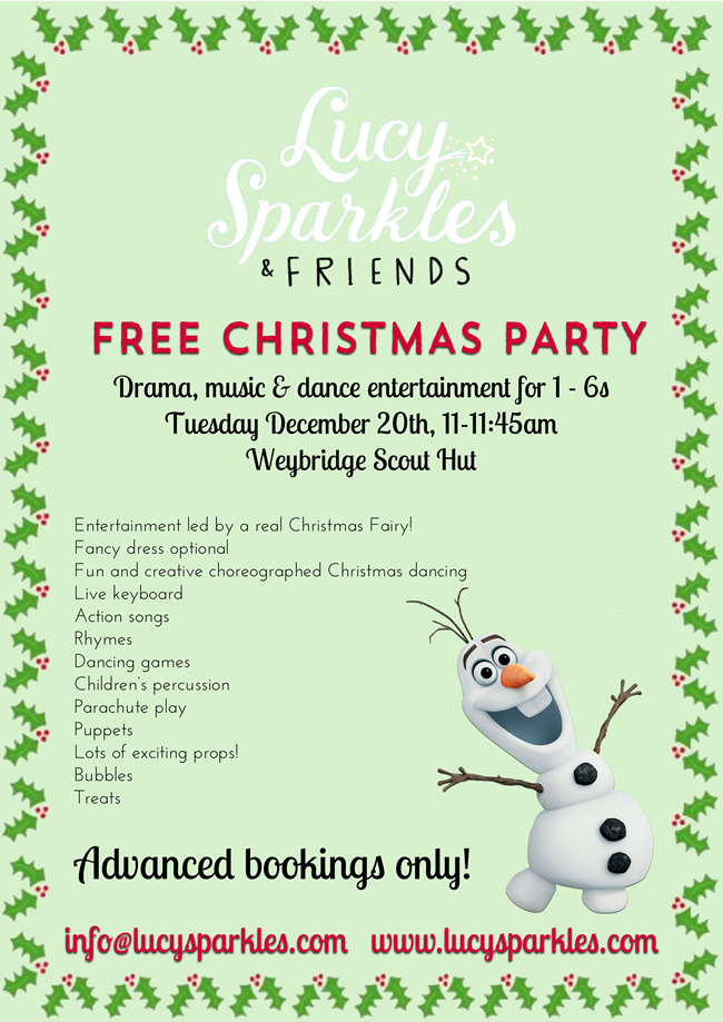 Christmas Party for Children 1-6 years old in Weybridge! Drama, Music & Dance Entertainment