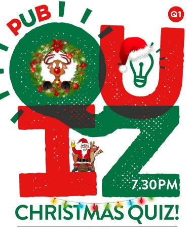 Happy Quizmas - Christmas Quiz Night at The Alexander Pub Oatlands Village Weybridge Surrey