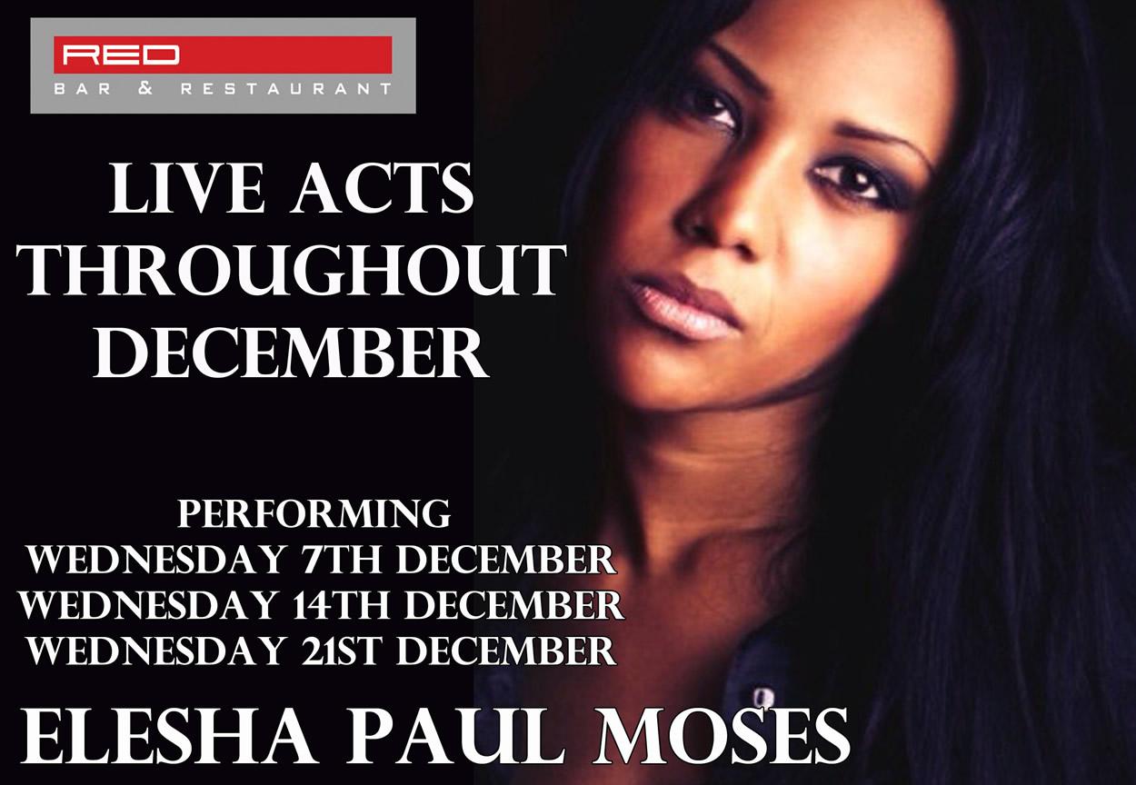 Elesha Paul Moses, Whitney Houston & Tina Turner Tribute - Live Music at Red Bar & Restaurant Weybridge Surrey