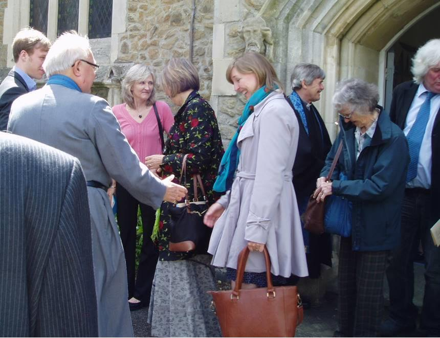 After Church Service at United Reformed Church Queens Road Weybridge Surrey