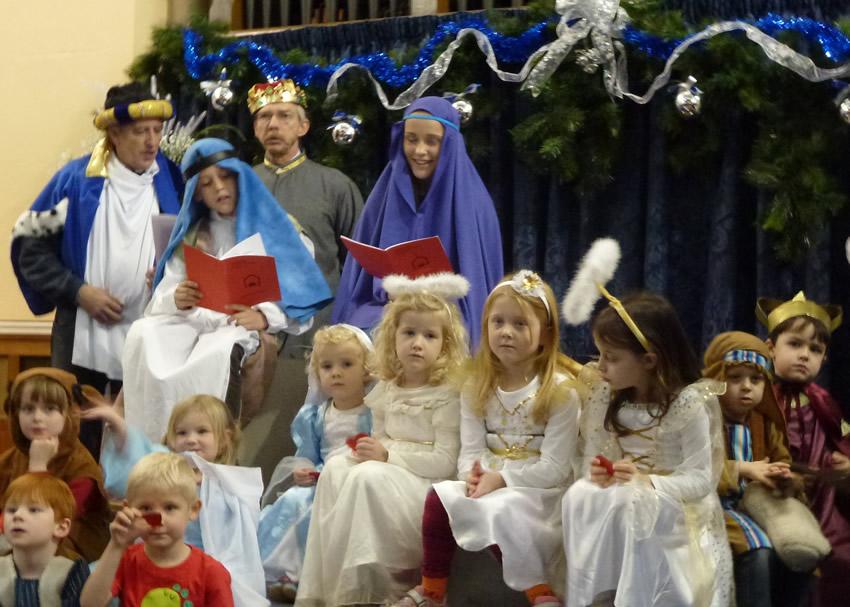 Christmas Crib Service for Children & Families at United Reformed Church Weybridge Surrey