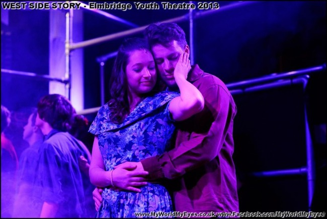 earlier production of West Side Story by Elmbridge Youth Theatre - returning to Cecil Hepworth Playhouse Walton on Thames Surrey