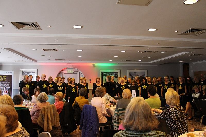 Cobham Fashion show -we have lots of entertainment including a wonderful performance from members of Rock Choir.