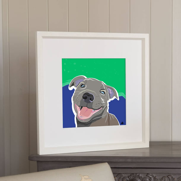 Gifts - Framed Prints of Dog Portrait Commission Paintings by Weybridge Artist Katie Bell
