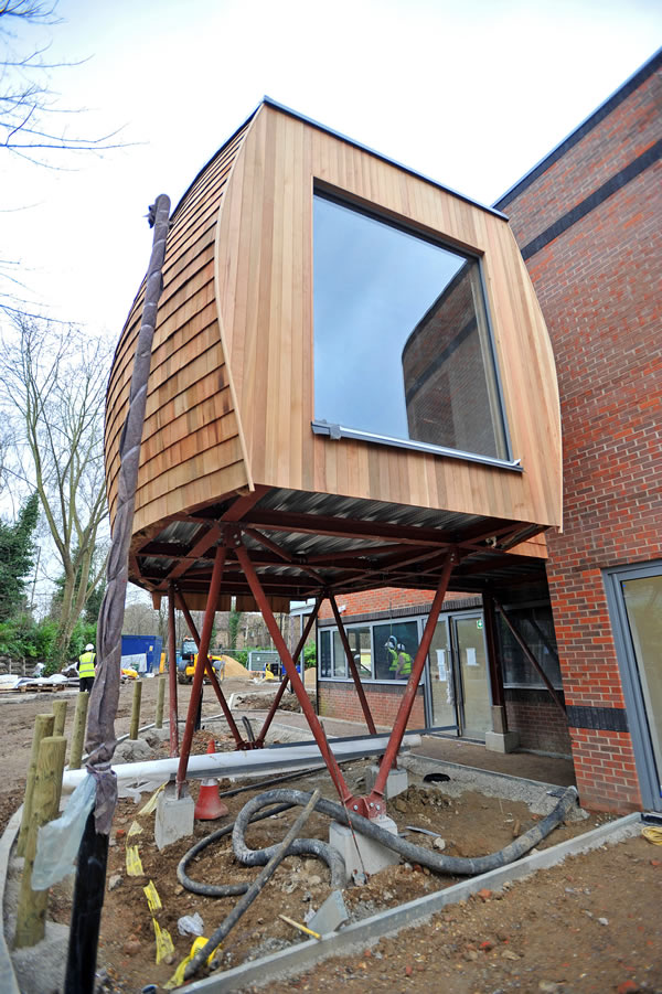 SC Johnson has donated over £100,000 to fund the construction and furnishing of a family 'pod' at Woking & Sam Beare Hospices' new state-of-the-art 20 bedroom hospice