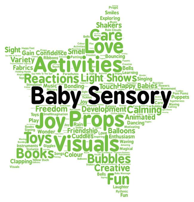 Baby Sensory Learning in Oatlands Weybridge Surrey - Songs, Friendship, Development, Play, Toys