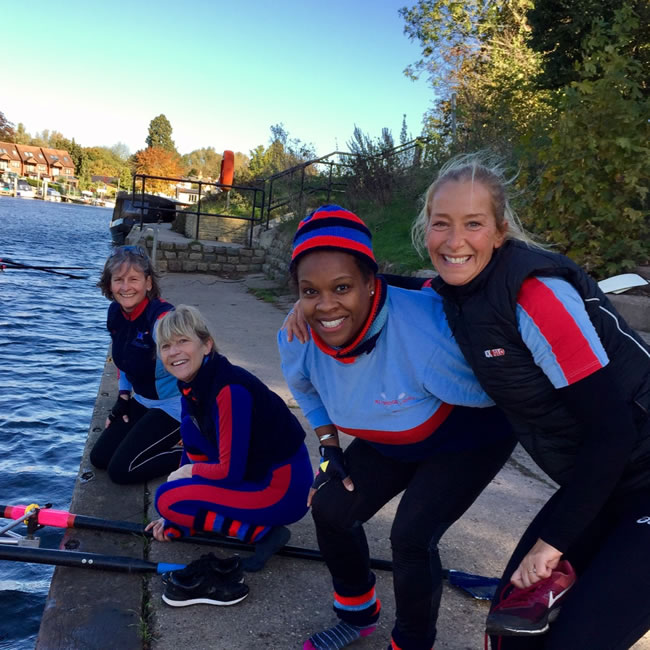 Training Session - Having fun at Weybridge Ladies Amateur Rowing Club