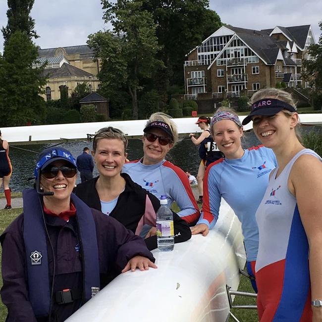 Post race at Weybridge Ladies Amateur Rowing Club Elmbridge