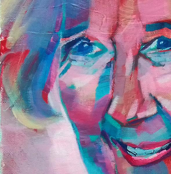 Portrait Painting of Woman - Contemporary Art by Katie Bell - Weybridge Elmbridge Surrey Artist