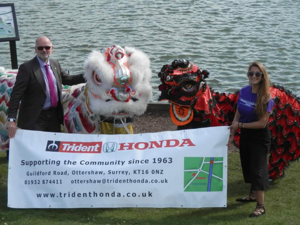 Woking & Sam Beare Hospices - Dragon Boat Race & Fun Day at Goldsworth Park sponsored by Trident Honda Garage