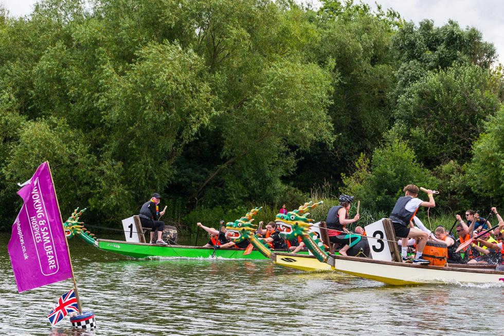 Dragon Boat Race & Fun Day Woking Surrey at Goldsworth Park