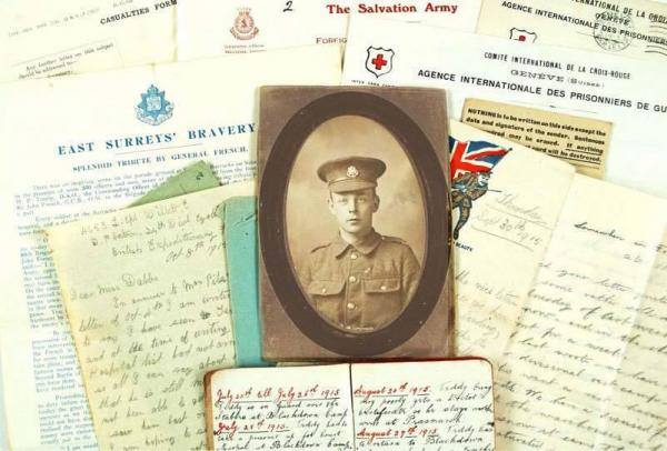Learn About Surrey's WW1 Past & Share Your Memories - Surrey History Centre Woking & website