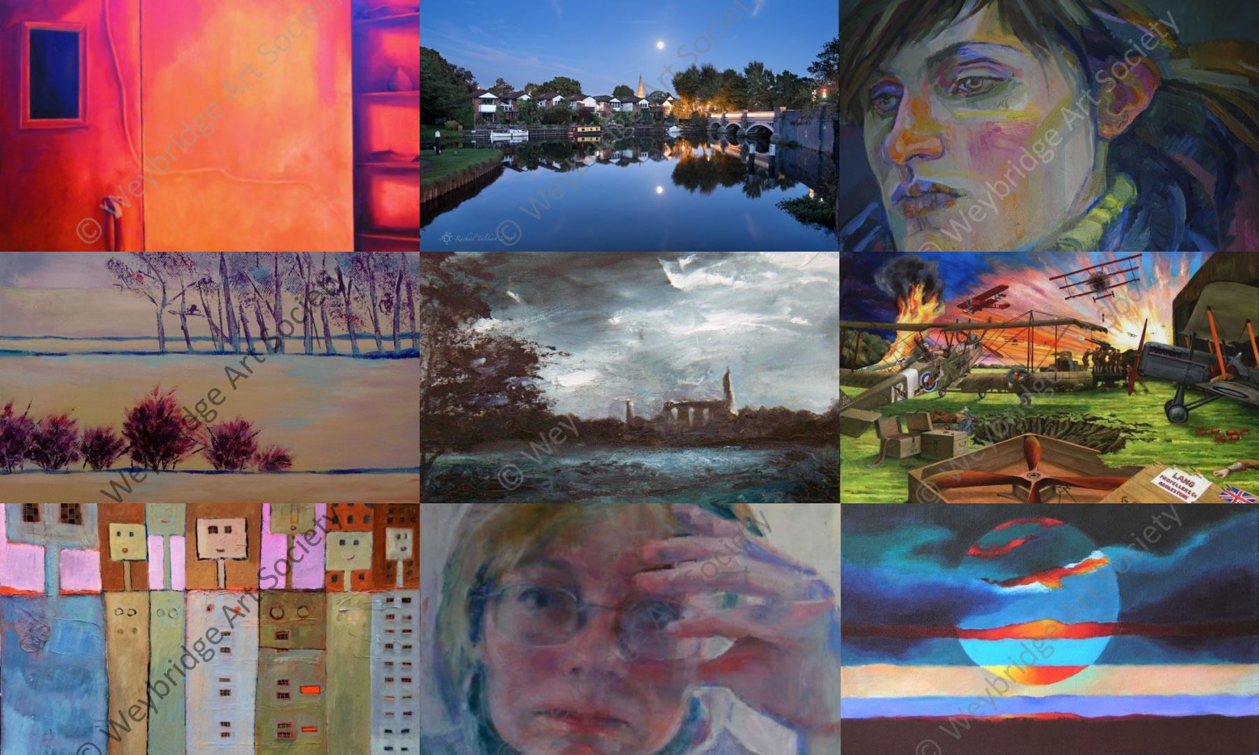 Weybridge Art Society Christmas Spring & Summer Exhibitions