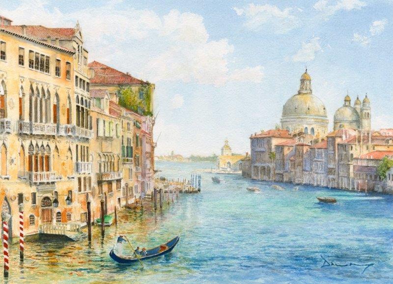 Byfleet Art Group Surrey - Venice Painting by David Drury
