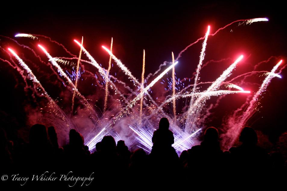 Weybridge Fireworks Display at Cleves School Oatlands close to Walton on Thames