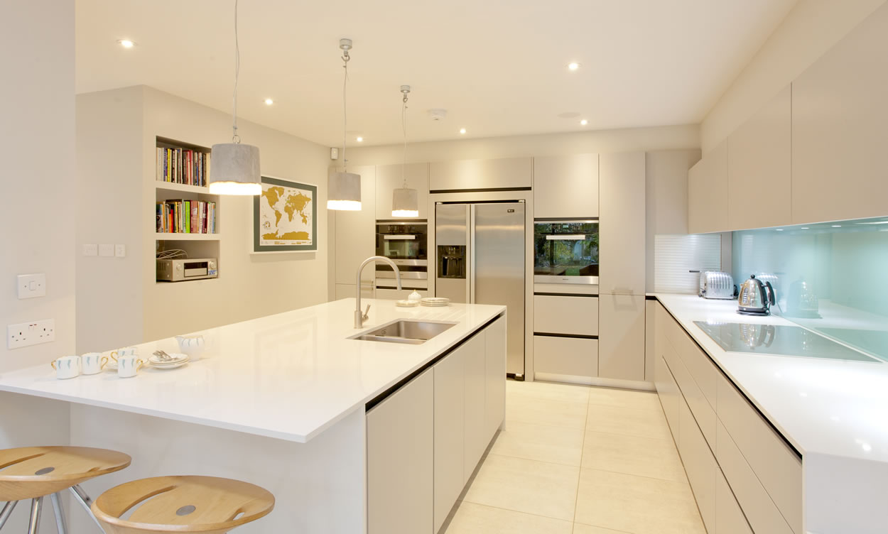 Lighting in your kitchen is often an afterthought but shouldn't be as it is an integral part of any kitchen design - Advice from Sanctuary Kitchens Shepperton Surrey