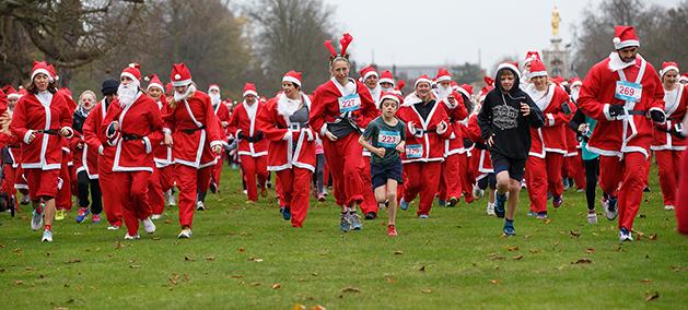 Santa Fun Runs - FUNdraising for Princess Alice Hospice Esher Elmbridge Surrey