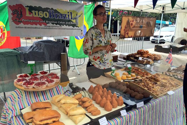Weybridge Green Food Maket -LusoBrazil traditional handmade Portuguese and Brazilian cakes, savouries and snack breads
