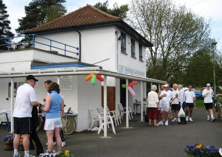 Weybridge Tennis Club Members at Clubhouse in Walton Lane near River Thames