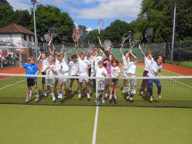 hildren of all ages are especially wellcome at Weybridge Tennis Club Elmbridge Surrey