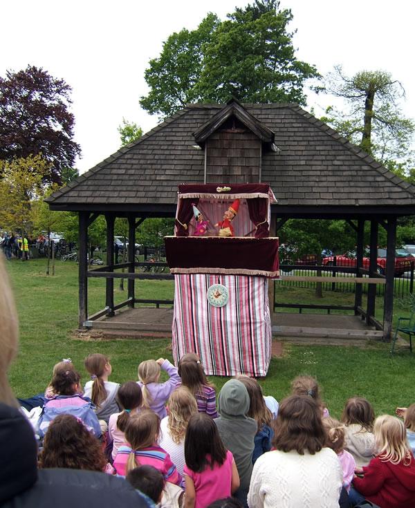Punch & Judy Show for Children at Oatlands Village Fayre Weybridge Surrey