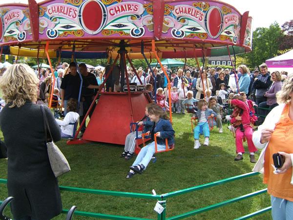 Rides and other fun for Children at Oatlands Village Fayre Weybridge Surrey