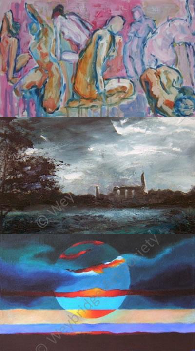 Weybridge Art Society Exhibition in Church Street opposite Weybridge Library