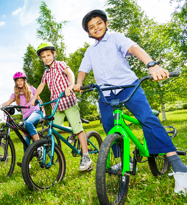 introduces children to different disciplines of cycling so they will be learning mountain biking, road cycling and BMX