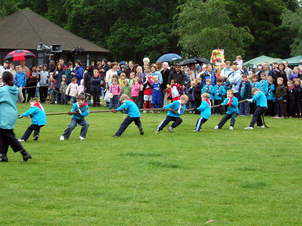 Weybridge Cheer Foxes - Cheerleaders Display at Oatlands Village Fayre Weybridge near Walton On Thames Elmbridge Surrey