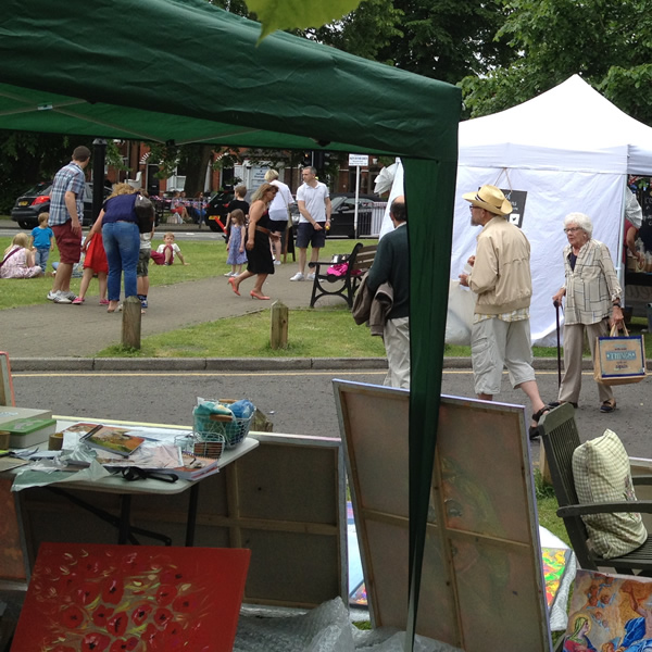 Weybridge Town Business Group Party on Monument Green Summer Market Event