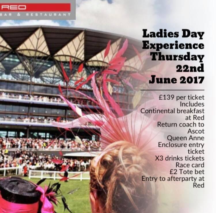 Ladies Day Ascot Experience at Red Bar Weybridge Surrey