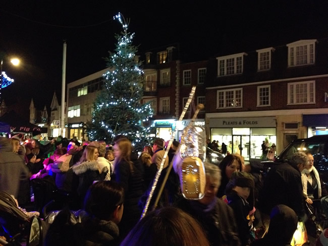 Christmas Tree Lights Switch On and Carol Singing in Weybridge Town Centre