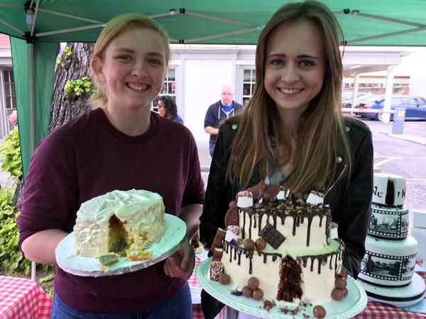 Chocolate Tiered Cake by Rhian Hayward, Celebration Cakes Winner of Great Weybridge Bake Off